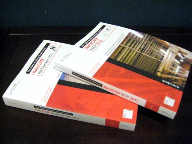 Aubin Academy AutoCAD Books on my desk