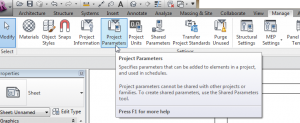 Add a Project Parameter