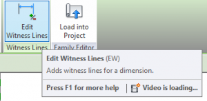 The Edit Witness Lines Tool