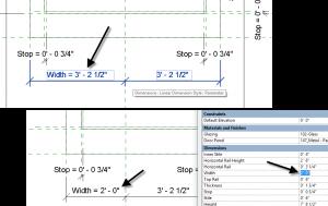 A Multi-segment dimension with a label applied